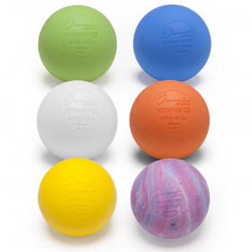 Official Lacrosse Ball Set, 6 Assorted Colors