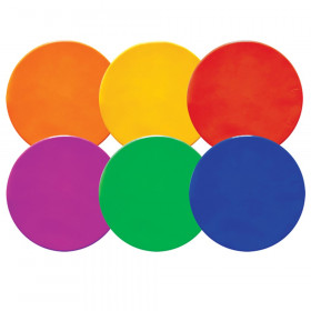"Round Poly Spot Markers, 10"", 6 Assorted Colors"