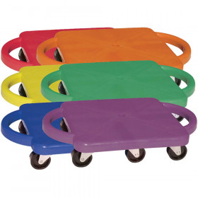Plastic Standard Scooter Set with Handles, Set of 6