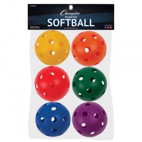 Plastic Softballs, Set of 6