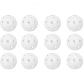 12Pk White 12In Plastic Softball