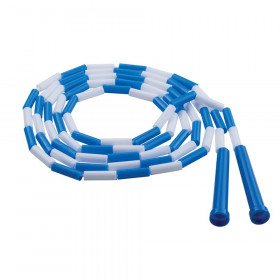 Plastic Jump Rope Blue White Segmented 9Ft