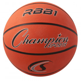 Rubber Basketball, Official Size 7, Orange