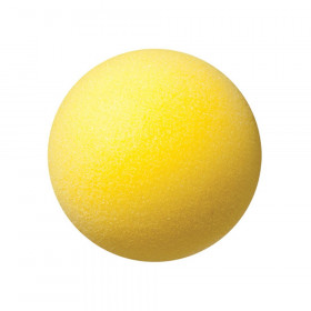 "Uncoated Regular Density Foam Ball, 4"", Yellow"