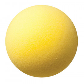 "Uncoated Regular Density Foam Ball, 7"", Yellow"