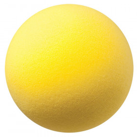 "Uncoated Regular Density Foam Ball, 8-1/2"", Yellow"