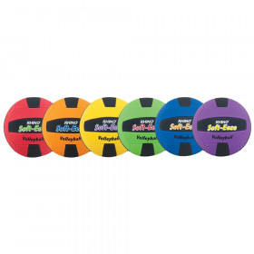 Rhino Softeeze Volleyball Set, Assorted Colors, Set of 6