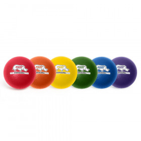 Rhino Skin 6-Inch Low Bounce Dodgeball Set, Assorted Colors, Set of 6