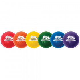 Rhino Skin 8-Inch Low Bounce Dodgeball Set, Assorted Colors, Set of 6