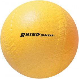 4In Yellow Coated Foam Softball High Density
