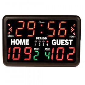 "Electronic Scoreboard, Multi-Sport Tabletop Indoor, 24""L x 16""H x 10""D"