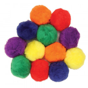 Pom Pons, Assorted Colors, 70 mm, 12 Pieces