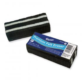 "Chalk & Whiteboard Eraser, Premium, 6 Black & White Felt Strips, Double-Stitched, Reinforced Backing, 5"", 1 Eraser"