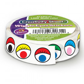 "Wiggle Eyes Sticker Roll, Multi-Color, 0.5"", 1000 Pieces"