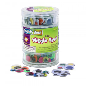 Wiggle Eyes Storage Stacker, Round Assorted Black, Painted & Bright, Assorted Sizes, 400 Pieces