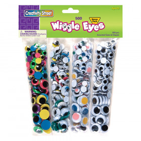 Wiggle Eyes, Assorted Colors & Sizes, 500 Pieces