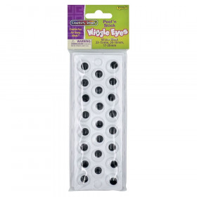 Peel & Stick Wiggle Eyes on Sheets, Black, Assorted Sizes, 60 Pieces