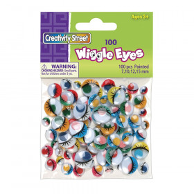 Wiggle Eyes, Painted, Assorted Sizes, 100 Pieces