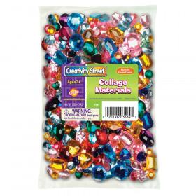 Acrylic Gemstones, Assorted Colors & Sizes, 1 lb.