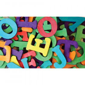 """Wood Capital Letters, Assorted Colors, 1-1/2"""", 104 Pieces"""