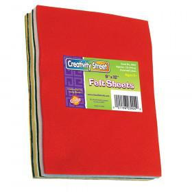 """Felt Sheets, 7 Assorted Colors, 9"""" x 12"""", 1 lb."""