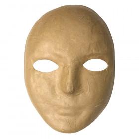 """Papier Maché Mask, 8"""" x 5-1/4"""", 1 Piece"""