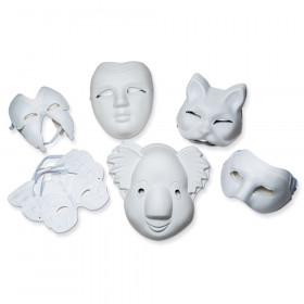 Paperboard Masks, Classroom Pack, Assorted Sizes, 24 Pieces