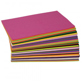 "WonderFoam Sheets, Assorted Colors, 5.5"" x 8.5"", 40 Sheets"
