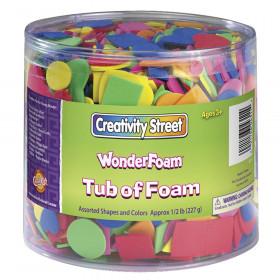 WonderFoam Craft Tub, Foam Shapes, Assorted Sizes, 1/2 lb.