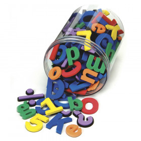 Magnetic Letters, Numbers & Symbols, Assorted Colors & Sizes, 130 Pieces