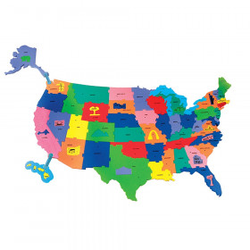 Giant USA Puzzle Map, 4' x 2-1/2', 73 Pieces
