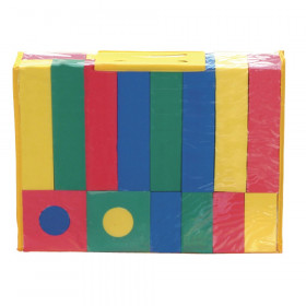 Activity Blocks, Assorted Primary Colors, Assorted Sizes, 40 Pieces