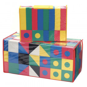 Activity Blocks, Assorted Primary Colors, Assorted Sizes, 152 Pieces