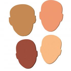 "WonderFoam Multi-Cultural Faces, 7"" to 8"", 24 Pieces"