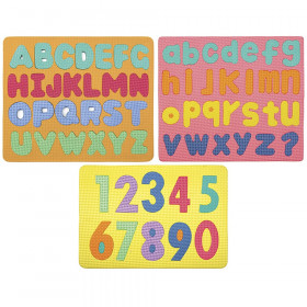 Magnetic Letters & Numbers Puzzle, Assorted Colors & Sizes, 3-Pack