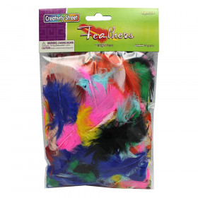 Turkey Plumage Feathers, Assorted Bright Hues, Assorted Sizes, 14 grams