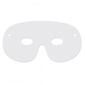"Die-Cut Paper Masks, White, 4"" x 8"", 50 Pieces"