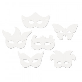 Die-Cut Paper Masks, Mardi Gras Assortment, Assorted Sizes, 24 Pieces