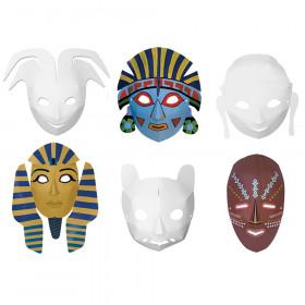 Die-Cut Paper Masks, Multi-Cultural Assortment, Assorted Sizes, 24 Pieces