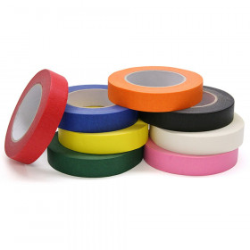 Colored Masking Tape 8 Roll Assortd 1X60 Yrds
