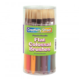 """Colossal Brushes, Flat, Assorted Colors, 7.25"""" Long, 30 Brushes"""