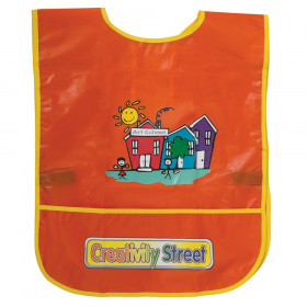 "Children's Artist Smock, Ages 3 to 8, Orange, 15"" x 12"", 1 Piece"