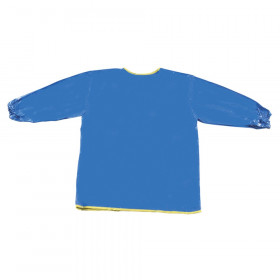 "Long Sleeve Plastic Art Smock, Ages 3+, Blue, 22"" x 18"", 1 Count"