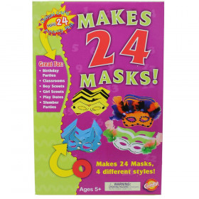 Colossal Crafts Mask Kit, Assorted Colors, Assorted Sizes, 1 Kit