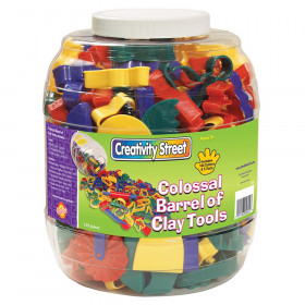 Colossal Barrel of Clay Tools, Assorted Colors & Sizes, 1 Kit