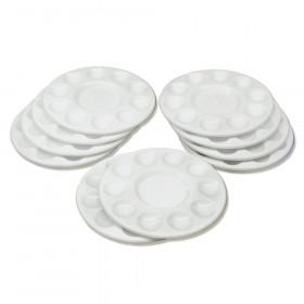 "Paint Trays, Round, 10-Well, 6.75"" Dia., 10 Trays"
