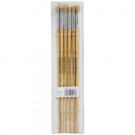 Round White Bristle Brush 1/4 6-Set Size 5