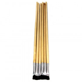 "Easel Brushes, Long Handle, Long Handle, 0.25"" Flat, 11.5"" Long, 6 Brushes"