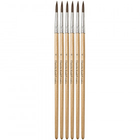 Tapered Water Color Brush 6-Set 11/16 Long Size 6