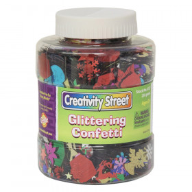 Glittering Confetti Jar, Assorted Colors & Sizes, 230 grams